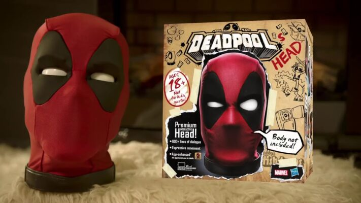 cabeza interactiva de Deadpool